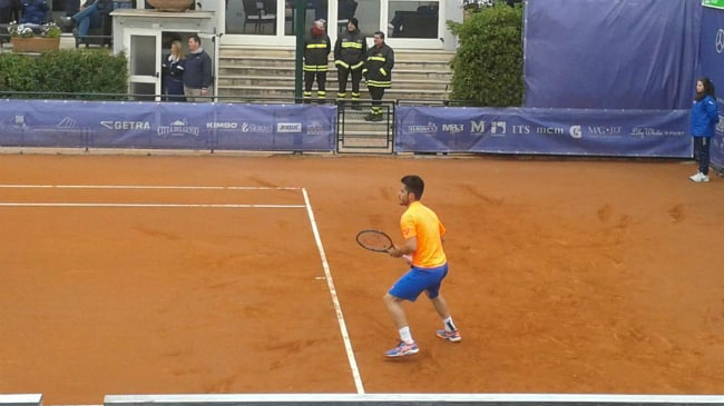 Thomas Fabbiano al Challenger Napoli