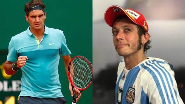 Valentino Rossi e Roger Federer