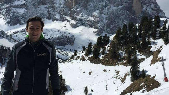 Stefano Travaglia sulla neve