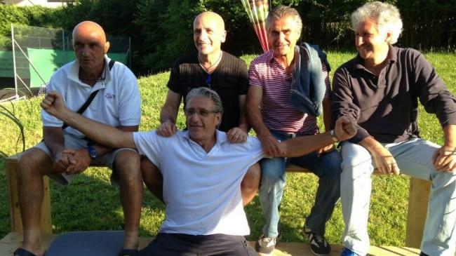 Renato Fontana, seduto. In alto da sinistra: Primo Veneri, Daniele Cattaneo, Miguel Mir, Pierre Gallivanoni