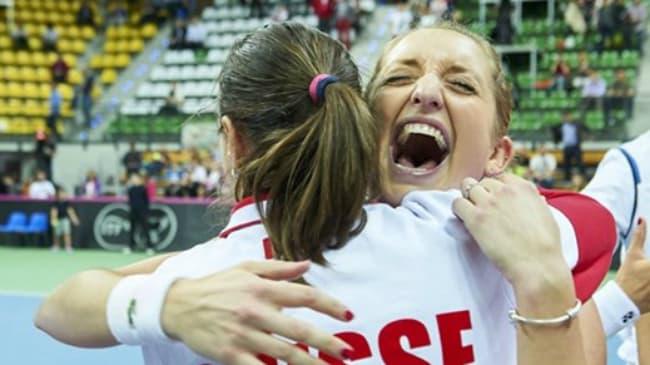 Fed Cup, la gioia della Svizzera