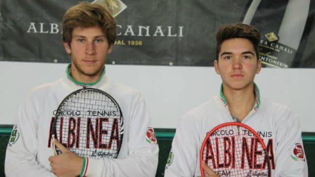 Federico Ottolini (a sinistra) e Andrea Guerrieri, del CT Albinea