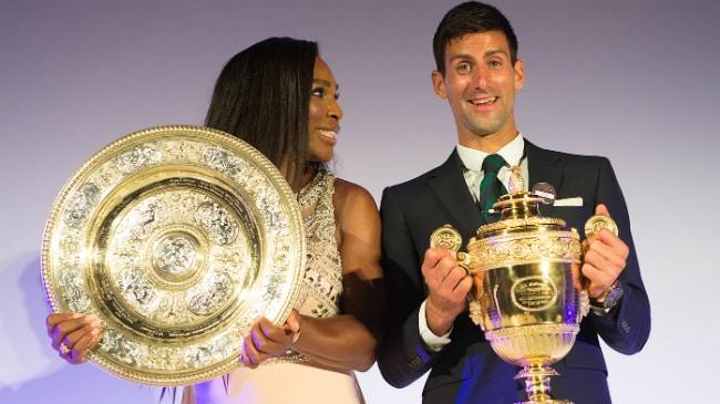 Serena Williams e Novak Djokovic al Wimbledon Dinner