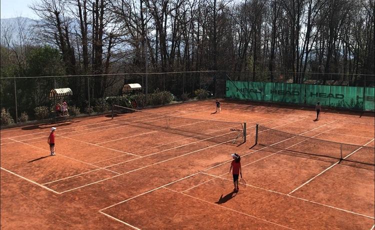 Un momento del raduno AB Tennis presso il CT La Signoretta di Genazzano