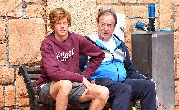 Jannik Sinner e Riccardo Piatti, foto Roberto Dell'Olivo