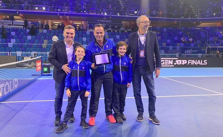 Lo Junior Milano premiato dalla Fit nel corso delle Next Gen Atp Finals di Milano