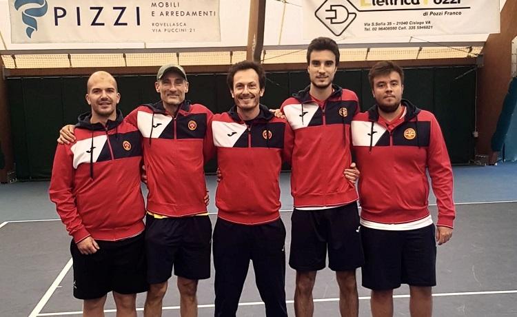 La formazione maschile del Club Tennis Ceriano che disputerà il Campionato di Serie C 2020