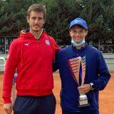 Daniel Bagnolini con il coach della MTA Lorenzo Frigerio. Al primo torneo insieme i due hanno subito centrato un titolo internazionale