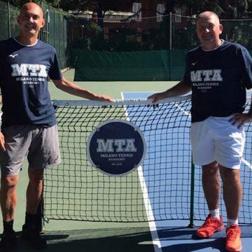 Piercarlo Guglielmi (sinistra) e Ugo Pigato, rispettivamente general manager e direttore tecnico della Milano Tennis Academy